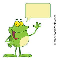 Waving And Talking Frog