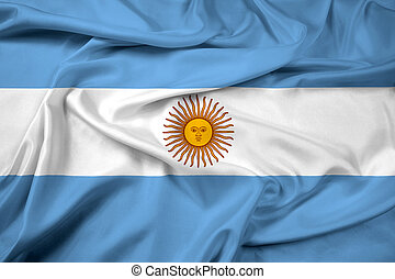 Waving Argentina Flag