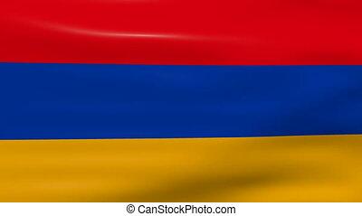 Waving Armenia Flag