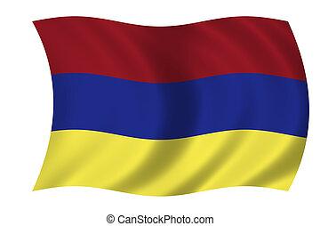 waving armenian flag