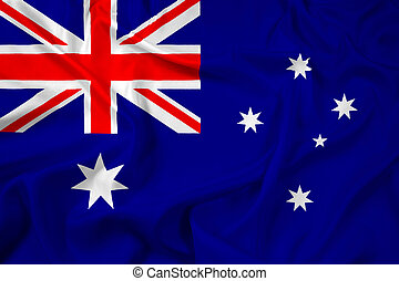 Waving Australia Flag