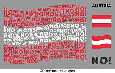 Waving Austria Flag Collage of No Texts