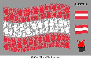 Waving Austrian Flag Composition of Joker Items