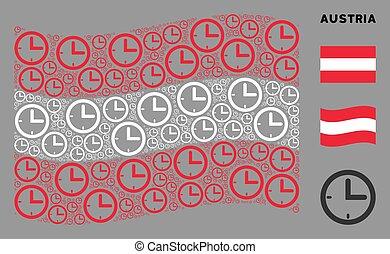 Waving Austrian Flag Mosaic of Time Items