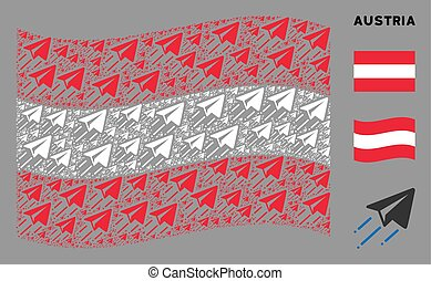 Waving Austrian Flag Pattern of Freelance Flight Items