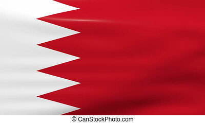 Waving Bahrain Flag, ready for seamless loop.