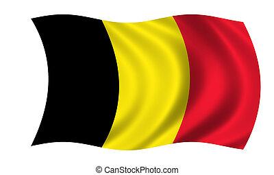 waving belgian flag