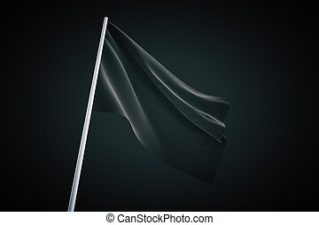 Waving black flag