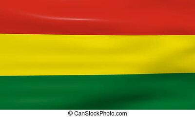 Waving Bolivia Flag, ready for seamless loop.
