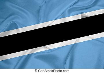 Waving Botswana Flag