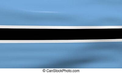 Waving Botswana Flag, ready for seamless loop.