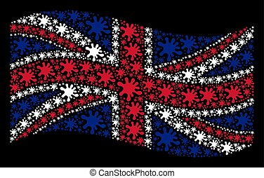 Waving British Flag Pattern of Blot Items