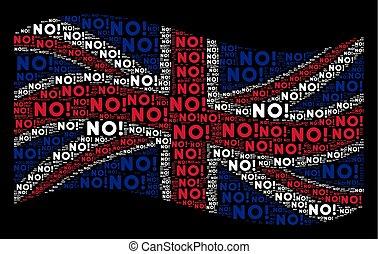 Waving British Flag Pattern of No Texts