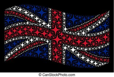 Waving British Flag Pattern of Space Star Items
