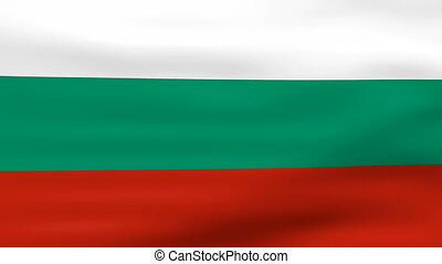 Waving Bulgaria Flag, ready for seamless loop.