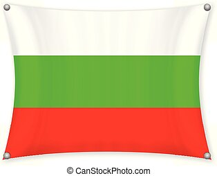 Waving Bulgaria flag