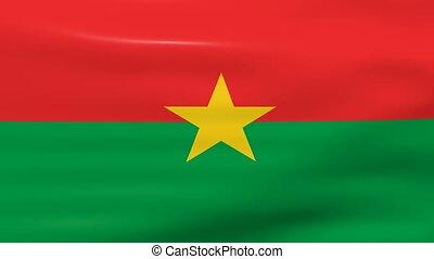 Waving Burkina Faso Flag, ready for seamless loop.
