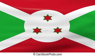 Waving Burundi Flag, ready for seamless loop.