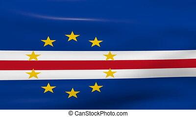 Waving Cape Verde Flag