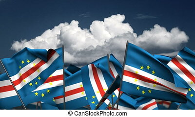 Waving Cape Verde Flags