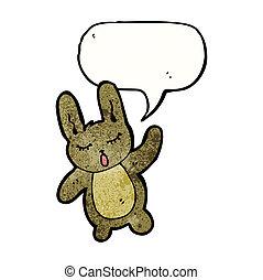 waving, caricatura, coelho