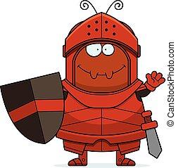 Waving Cartoon Ant Knight
