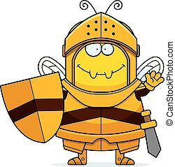 Waving Cartoon Bee Knight