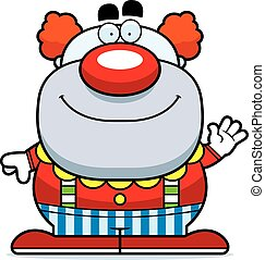 Waving Cartoon Clown