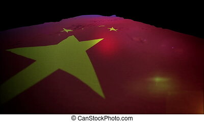 """Waving Chinese Flag Going Up in Slo-Mo"" - ""Beautiful slow..."
