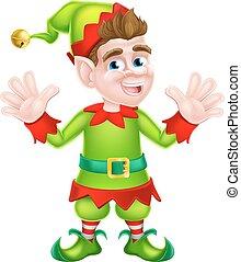 Waving Christmas Elf