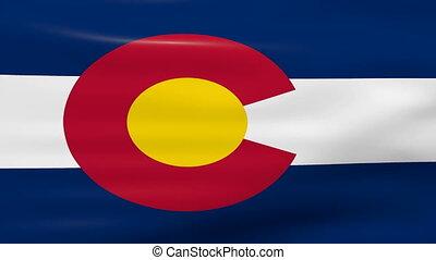 Waving Colorado State Flag