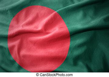 waving colorful flag of bangladesh.