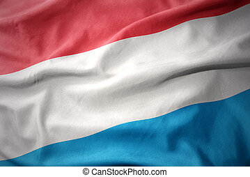 waving colorful flag of luxembourg.