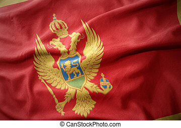 waving colorful flag of montenegro.