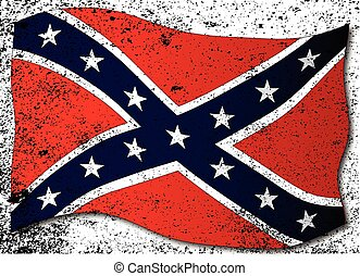 Waving Confederate Flag - The flag of the confederates ...