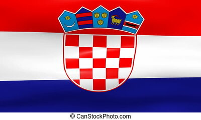 Waving Croatia Flag