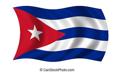waving cuban flag