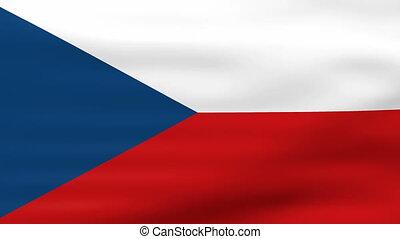 Waving Czech Republic Flag