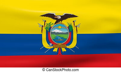 Waving Ecuador Flag, ready for seamless loop.