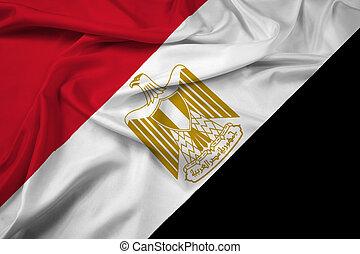 Waving Egypt Flag