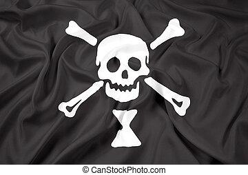 Waving Emanuel Wynn Pirate Flag