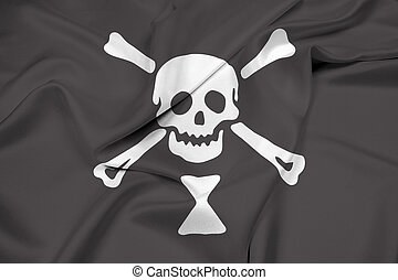Waving Emanuel Wynn Pirate Flag