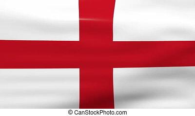 Waving England Flag, loop ready.