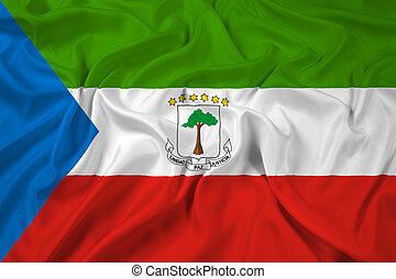 Waving Equatorial Guinea Flag