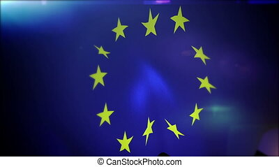 """Waving European Union Banner in Slo-Mo"" - ""Exciting 3d..."