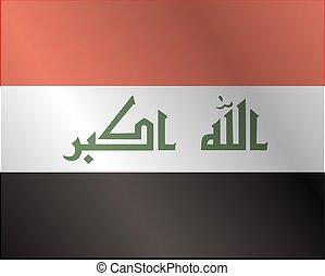 Waving Fabric Flag of Iraq
