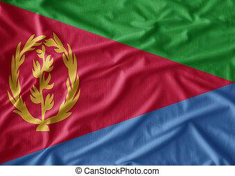 Waving Fabric Flag of Tunisia