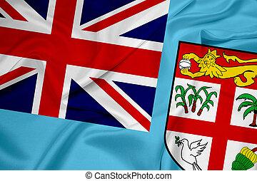 Waving Fiji Flag Drawings