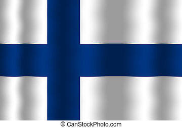 Waving Finland Flag