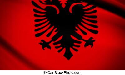 Waving Flag Albania Punchy